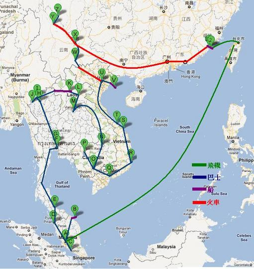 泰国.老挝.柬埔寨.越南.中国.金门慢游